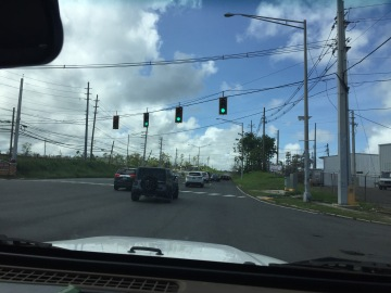 Traffic signals working (Hatillo)