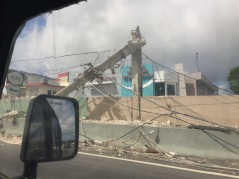 Cement post snapped in half (Quebradillas, PR-2)