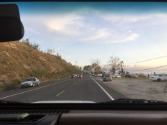 People pulled over to get cell service (San Sebastian, PR-111)