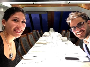 Dinner at MDR on Carnival Glory