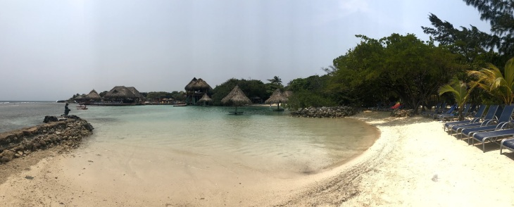 Pano of LFK in Roatan, Mahogany Bay
